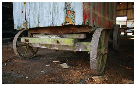 Original Axle from a Shepherd Hut
