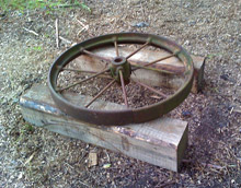 Iron wheel ready for restoration